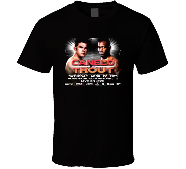 Saul Canelo Alavarez Vs Austin No Doubt Trout April 20th Fight Poster Boxing T Shirt
