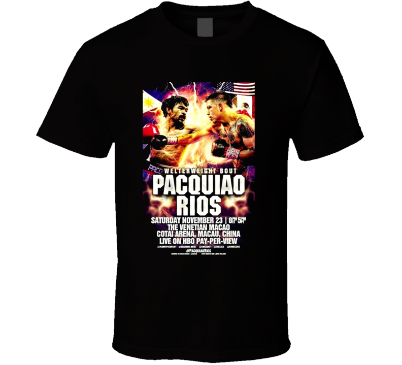 Manny Pacquiao Vs Brandon Rios November 23rd Fight Poster Boxing T Shirt
