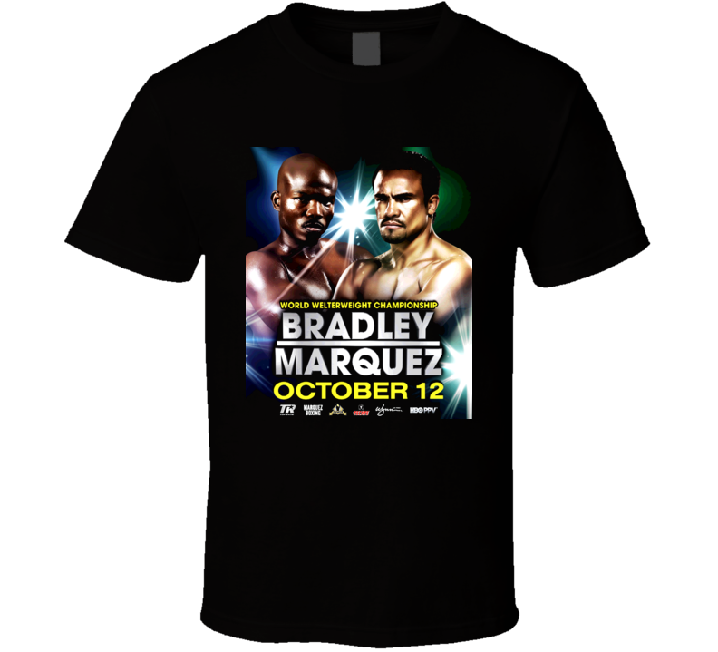Timothy Bradley Vs Juan Manuel Marquez October 12th Fight Poster T Shirt