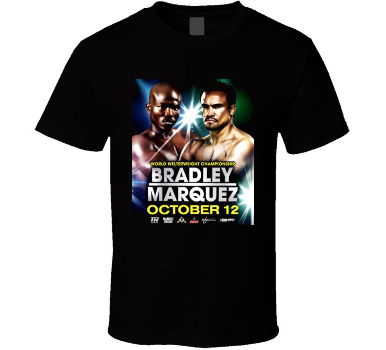 Timothy Bradley Vs Juan Manuel Marquez October 12th Fight Poster T Shirt