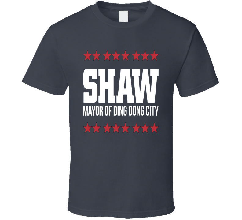 Travis Shaw Mayor Of Ding Dong City Boston Baseball T Shirt