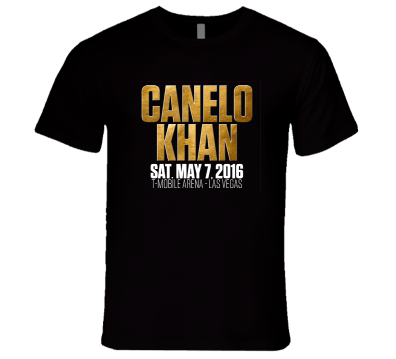 Canelo Alvarez Amir Khan May 7th Boxing T Shirt