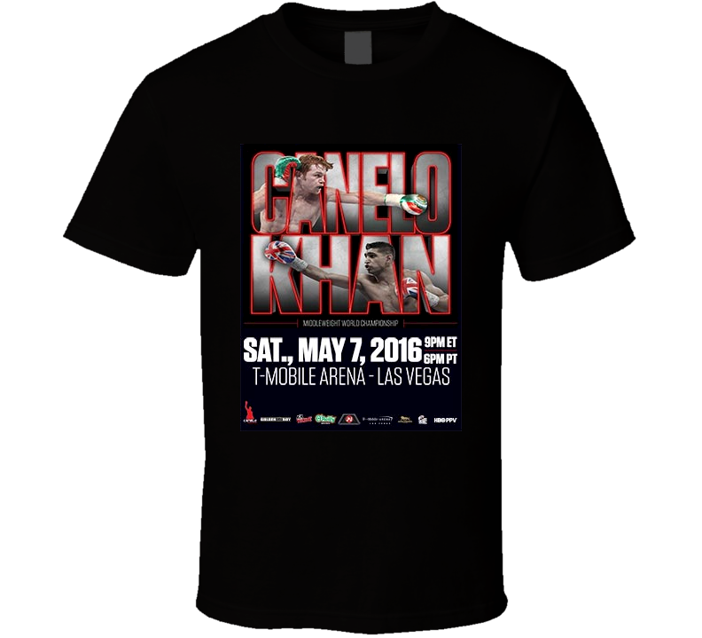"Saul ""Canelo"" Alveraz vs Amir Khan May 7th Boxing  T Shirt"