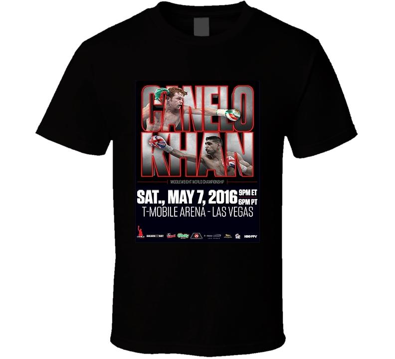 "Saul ""Canelo"" Alveraz vs Amir Khan May 7th Boxing  T Shirt"