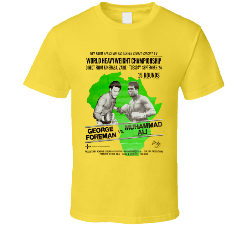 George Foreman Vs Muhammad Ali Zaire fight poster T Shirt