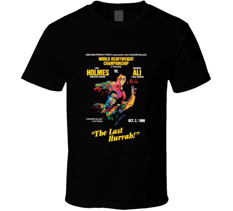 Muhammad Ali vs Larry Holmes Fight Poster  T Shirt