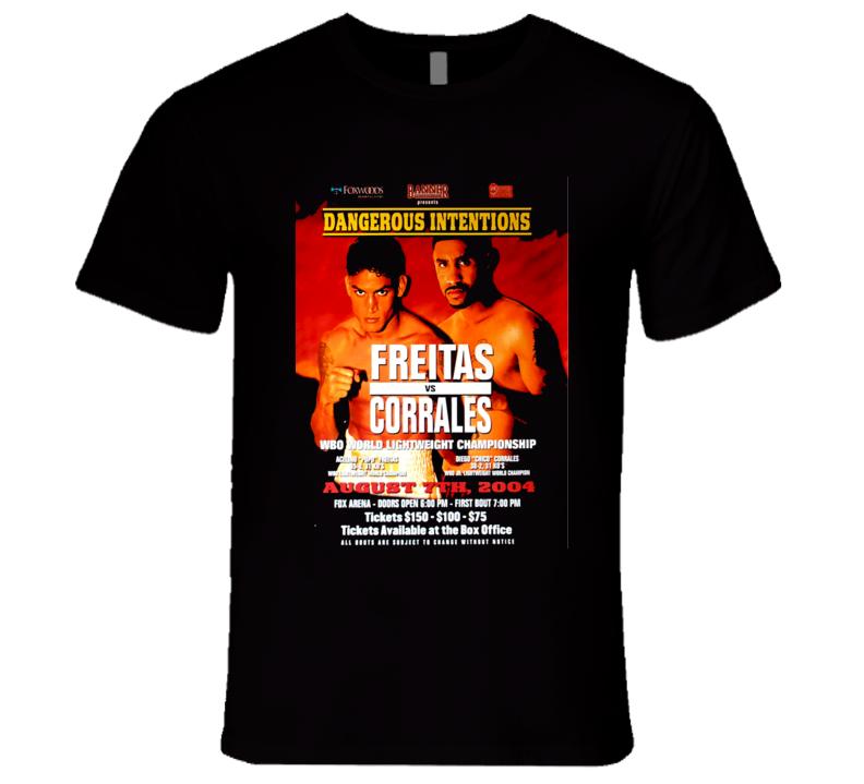 "Aclino ""Popo"" Frietas vs Diego Corrales Boxing Fight Poster T Shirt"