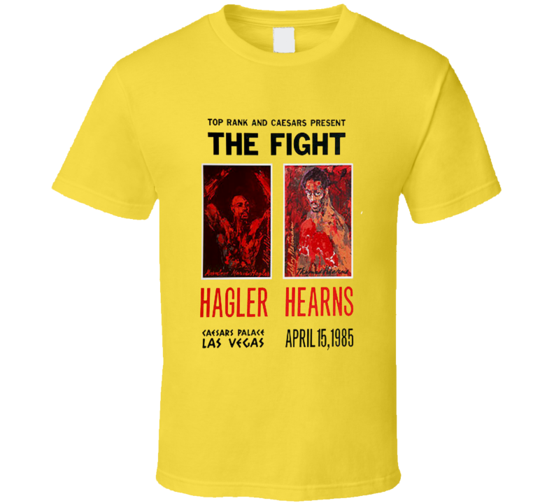 Hagler vs Hearns Boxing Fight Poster  T Shirt