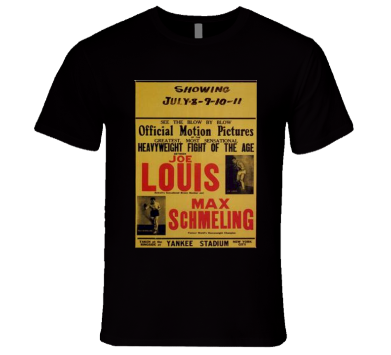 Joe Louis vs Max Schmeling Boxing Fight Poster T Shirt