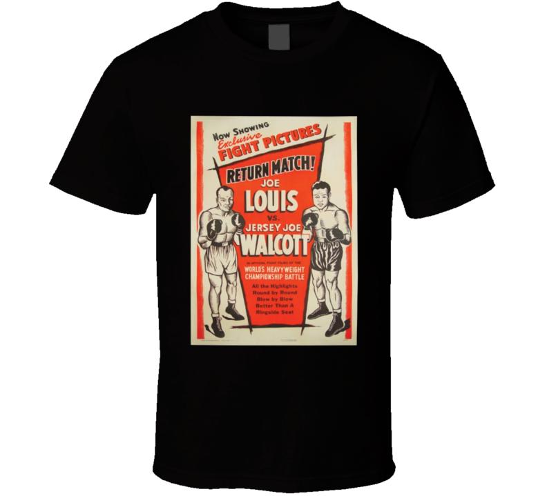 Joe Louis vs Jersey Joe Walcott Boxing Fight Poster T Shirt