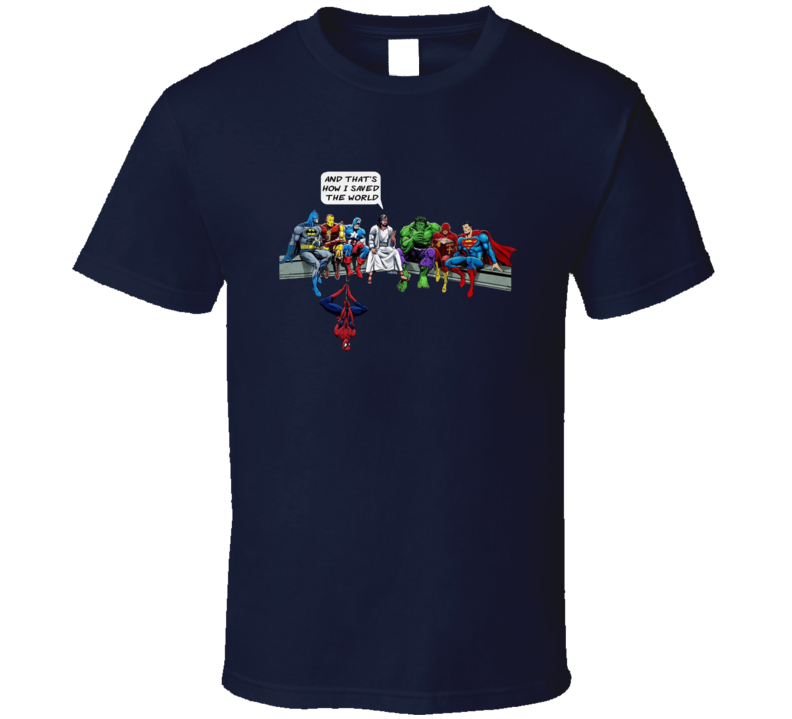 Cool And That`s How I Saved The World Jesus Super Heroes DC Funny T Shirt