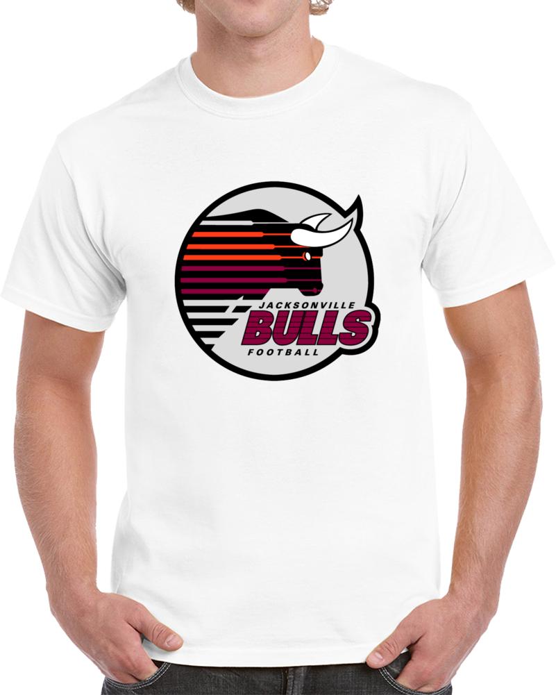 Cool Retro Classic USFL Jacksonville Bulls 1983 Logo Football V2 T Shirt