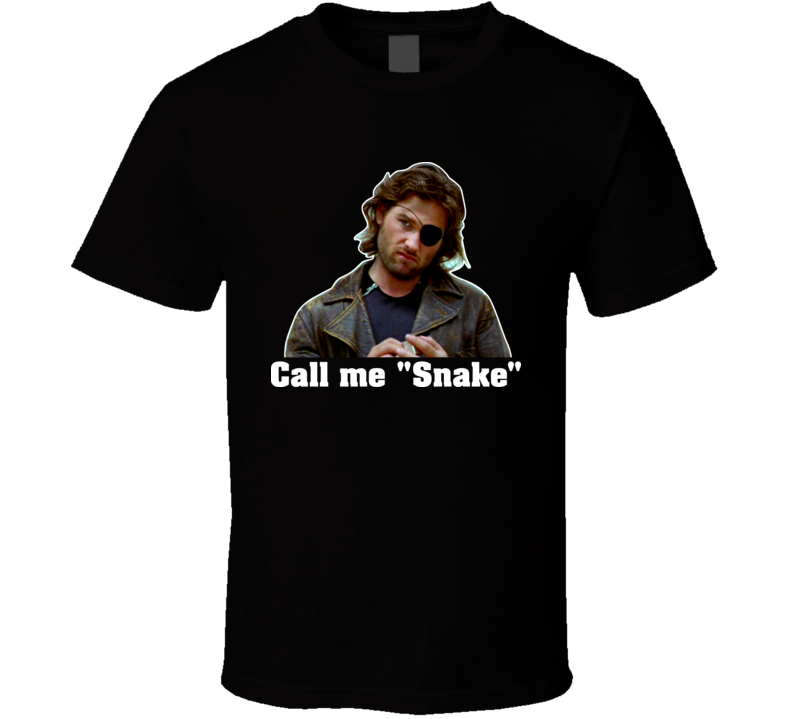 Escape From New York Snake Plissken Call Me Snake T Shirt