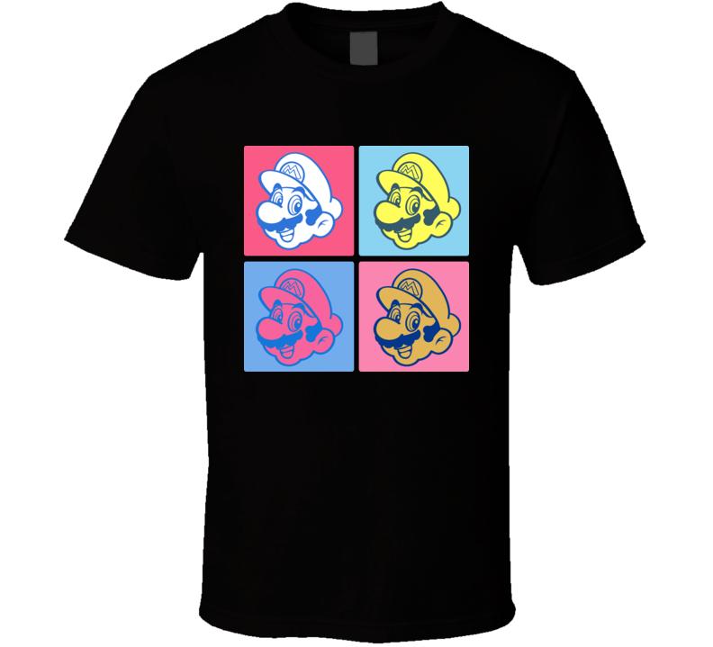 Super Mario Bros Warhol T Shirt