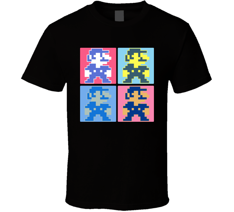 Super Mario Bros Retro Warhol T Shirt