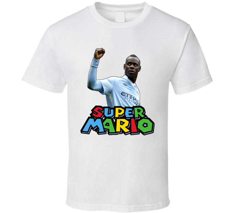 Mario Balotelli Machester City Italian National Team Super Mario Soccer T Shirt