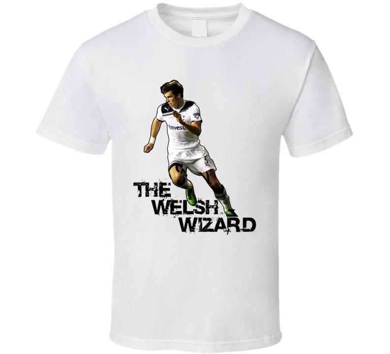 Garth Bale Tottenham Hotspur Welsh Wizard Soccer T Shirt