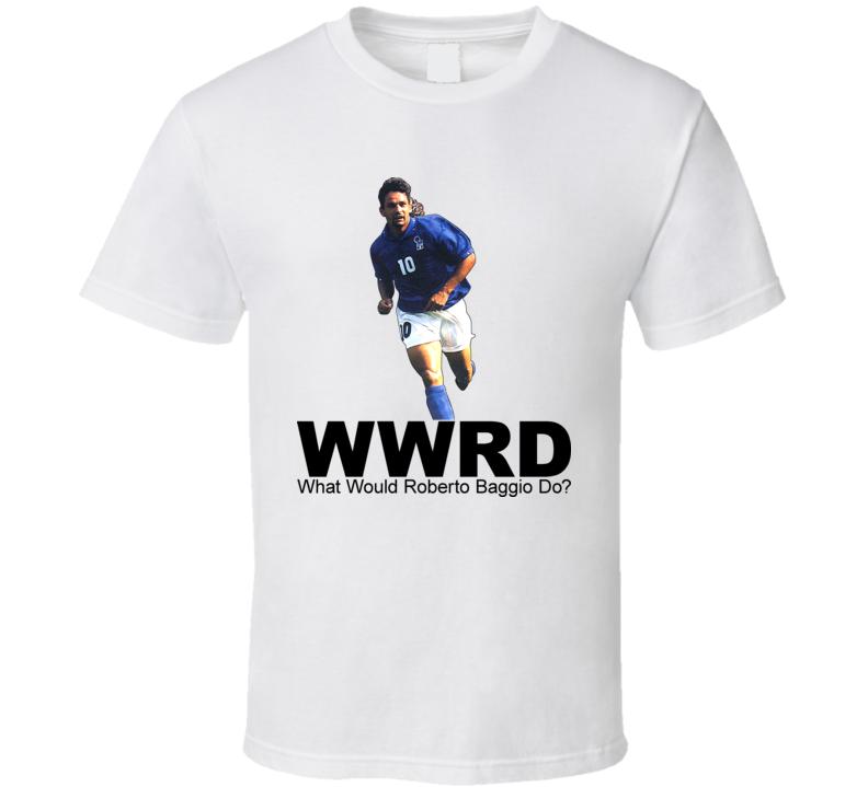 Roberto Baggio Italian National Soccer Team Wwjd T Shirt