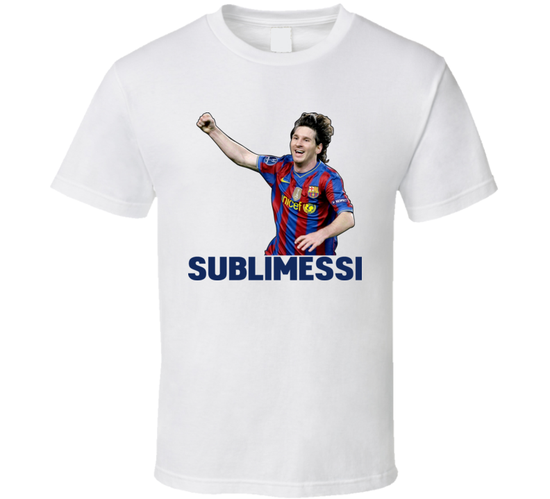 Lionel Messi Sublimessi Barcelona Argentina Soccer T Shirt