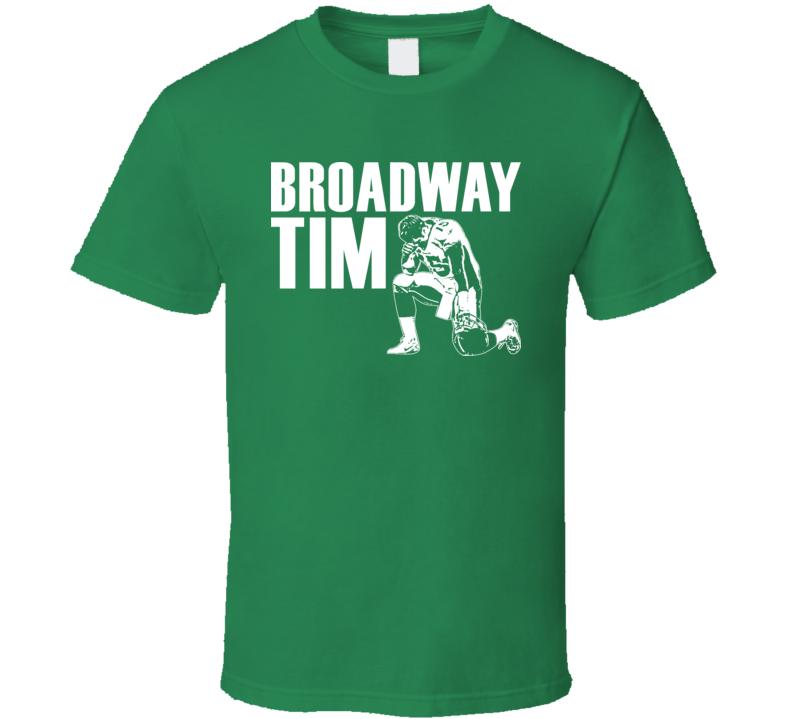 Tim Tebow Broadway Tim New York Football Tshirt
