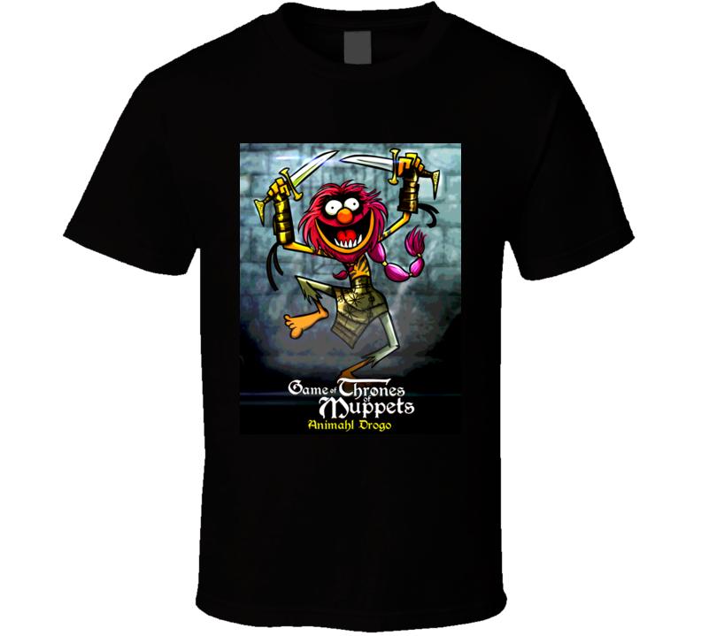 A Game Of Thrones Muppet Parody Animahl Drogo T Shirt