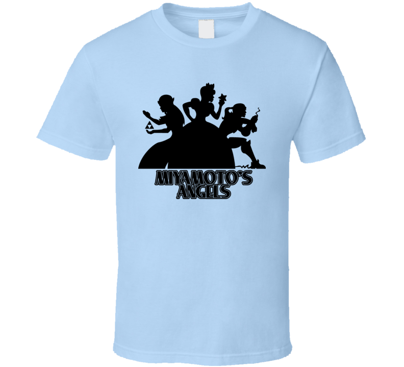 Miyamotos Angels Charlies Angels Parody T Shirt