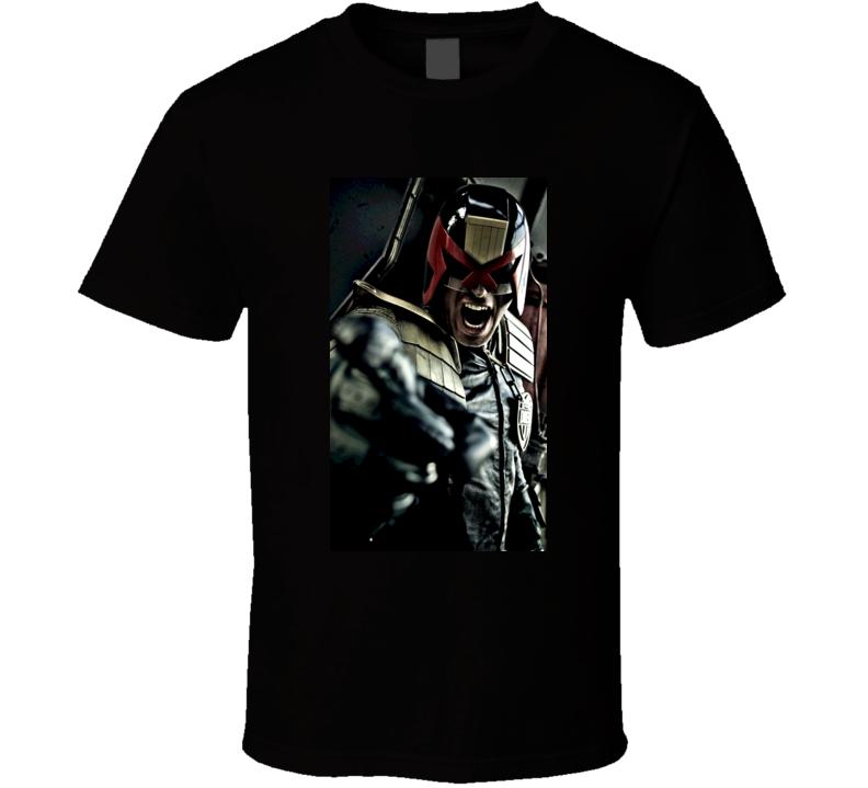 Judge Dredd Reboot Movie Poster T Shirt