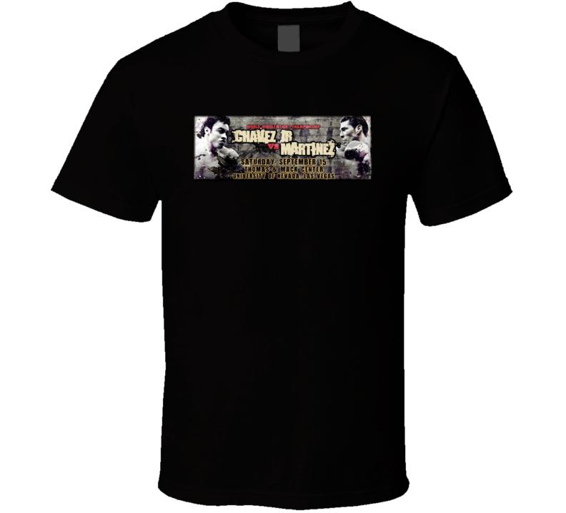 Julio Chavez Jr Vs Sergio Martinez Sept 15th Boxing Poster 2 T Shirt