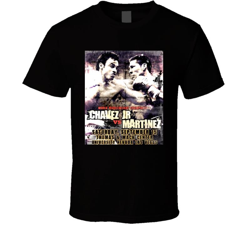 Julio Chavez Junior Vs Sergio Martinez Sept 15 Boxing Poster T Shirt