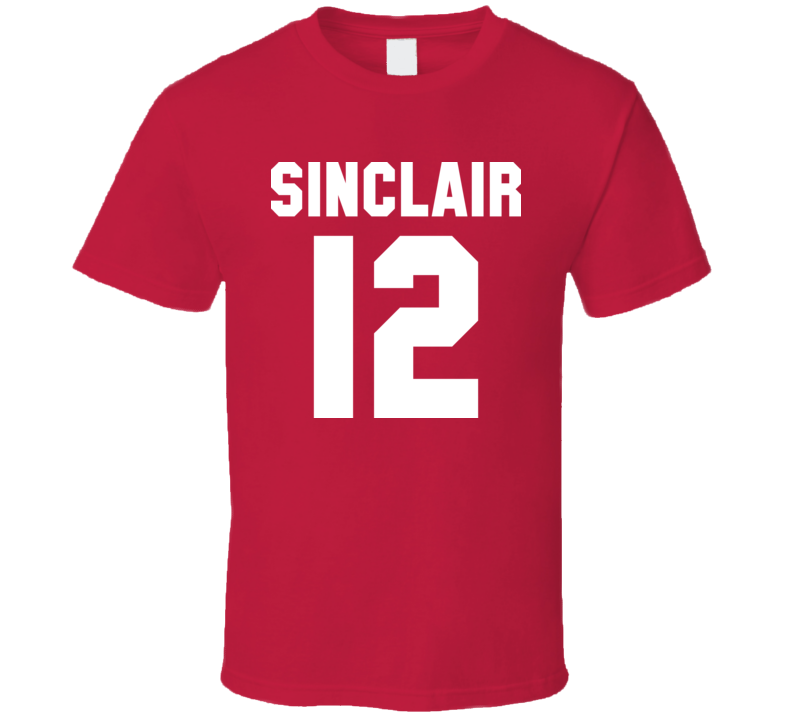 Christine Sinclair Canadian Womens Soccer Back T Shirt